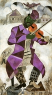 Le Violoniste Vert painting reproduction, Marc Chagall (inspired by)