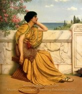 Leisure Hours painting reproduction, John William Godward