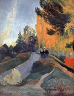 Les Alyscamps painting reproduction, Paul Gauguin
