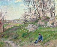 Les Carrieres du Chou, Pontoise painting reproduction, Camille Pissarro