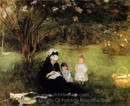 Lilacs at Maurecourt painting reproduction, Berthe Morisot