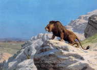 Lion on the Watch painting reproduction, Jean-Leon Gerome