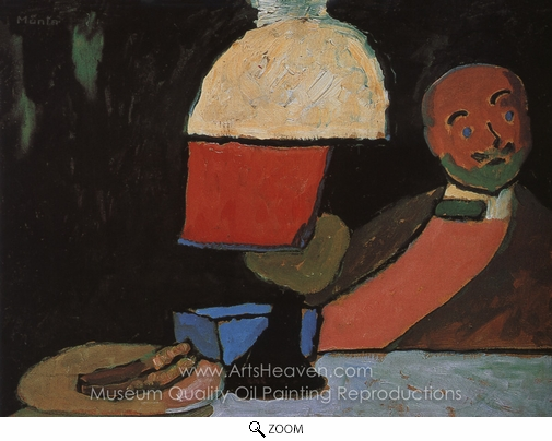 Gabriele Munter, Listening (Portrait of Jawlensky) oil painting reproduction