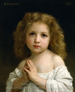 Little Girl painting reproduction, William Adolphe Bouguereau