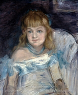 Little Girl in an Armchair painting reproduction, �douard Manet