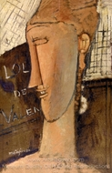 Lola de Valence painting reproduction, Amedeo Modigliani