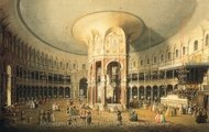 London: Ranelagh, Interior of the Rotunda painting reproduction, Canaletto