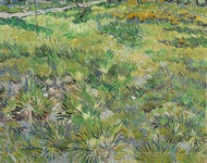Long Grass with Butterflies painting reproduction, Vincent Van Gogh