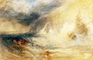 Long Ship's Lighthouse, Land's End painting reproduction, Joseph M. W. Turner