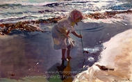 Looking for Seafood, Beach of Valencia painting reproduction, Joaquin Sorolla