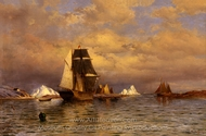 Looking Out of Battle Harbor painting reproduction, William Bradford
