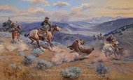 Loops and Swift Horses Are Surer Than Lead painting reproduction, Charles Marion Russell