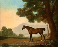 Lord Clermont's Bay Racehorse Johnny painting reproduction, George Stubbs