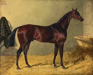 Lord Cleveland's Bay Colt painting reproduction, John Frederick Herring Sr.