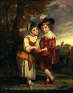 Lord Henry Spencer and Lady Charlotte Spencer painting reproduction, Sir Joshua Reynolds