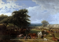 Lord Rivers's Stud Farm, Stratfield Saye painting reproduction, Jacques Laurent Agasse