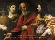 Lot and His Daughters Leaving Sodom painting reproduction, Guido Reni