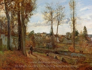 Louveciennes painting reproduction, Camille Pissarro