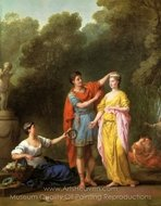 Lover Crowning His Mistress painting reproduction, Joseph-Marie Vien