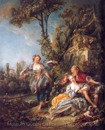 Lovers in a Park painting reproduction, Francois Boucher