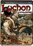 Luchon painting reproduction, Alfonse Mucha