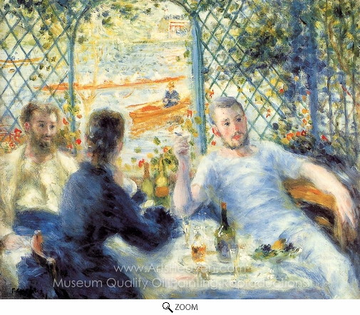 Pierre-Auguste Renoir, Lunch at the Restaurant Fournaise (The Rowers' Lunch) oil painting reproduction