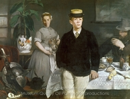 Lunch in the Studio painting reproduction, �douard Manet