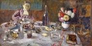 Luncheon painting reproduction, Edouard Vuillard
