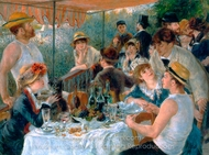 Luncheon of the Boating Party painting reproduction, Pierre-Auguste Renoir