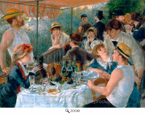 Pierre-Auguste Renoir, Luncheon of the Boating Party oil painting reproduction