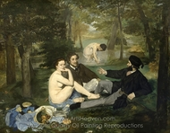 Luncheon on the Grass painting reproduction, �douard Manet