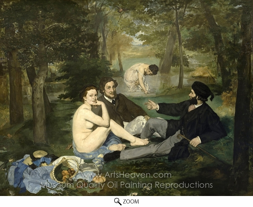 Édouard Manet, Luncheon on the Grass oil painting reproduction