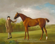 Lustre, held by a Groom painting reproduction, George Stubbs