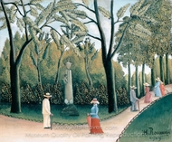 Luxembourg Garden painting reproduction, Henri Rousseau