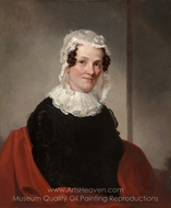 Lydia Coit Terry (Mrs. Eliphalet Terry) painting reproduction, Samuel F. B. Morse