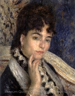 Madame Alphonse Daudet painting reproduction, Pierre-Auguste Renoir