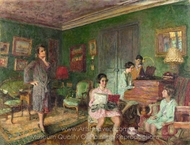 Madame Andre Wormser and Her Children painting reproduction, Edouard Vuillard