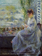 Madame Chocquet Reading painting reproduction, Pierre-Auguste Renoir
