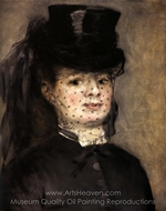 Madame Darras as an Amazon painting reproduction, Pierre-Auguste Renoir