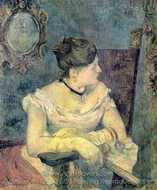 Madame Gauguin in Evening Dress painting reproduction, Paul Gauguin