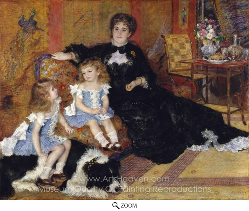 Pierre-Auguste Renoir, Madame Georges Charpentier and Her Children oil painting reproduction