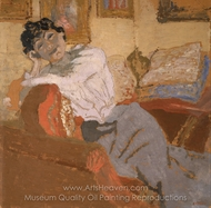 Madame Hessel on the Sofa painting reproduction, Edouard Vuillard