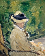 Madame Manet at Bellevue painting reproduction, Édouard Manet