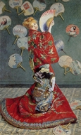 Madame Monet in a Japanese Costume (La Japonaise) painting reproduction, Claude Monet