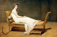 Madame Recamier painting reproduction, Jacques-Louis David