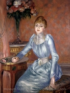 Madame Robert de Bonnieres painting reproduction, Pierre-Auguste Renoir