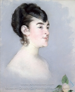 Mademoiselle Isabelle Lemonnier painting reproduction, �douard Manet