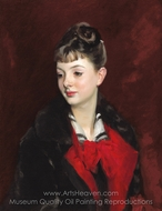 Mademoiselle Suzanne Poirson painting reproduction, John Singer Sargent