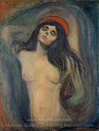 Madonna painting reproduction, Edvard Munch