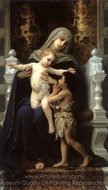 Madonna and Child with St. John the Baptist painting reproduction, William A. Bouguereau
